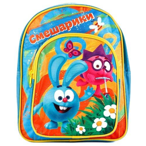 Купить Играем вместе Дошкольный рюкзак Смешарики большой с передним карманом (PBP18-SMESH) голубой, Рюкзаки, ранцы
