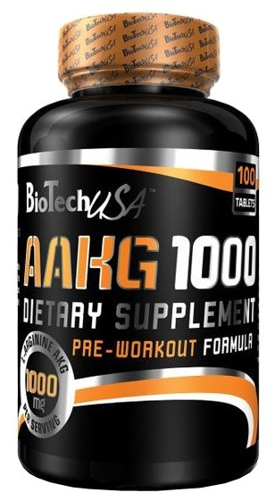 Аминокислота BioTech AAKG 1000mg (100 таблеток)