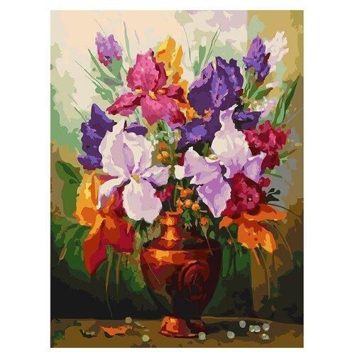 Купить Белоснежка Картина по номерам Ирисы 30х40 см (144-AS), Картины по номерам и контурам