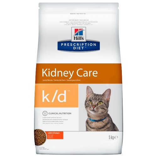 Корм для кошек Hills Prescription Diet K/D Feline Kidney Care (5 кг)Корма для кошек<br>