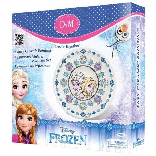 Купить D&M Набор для росписи тарелки Принцесса Frozen (63871), Роспись предметов
