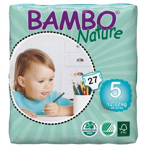 Купить BAMBO подгузники Nature Maxi+ (12-22 кг) 27 шт., Подгузники