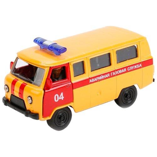 Грузовик ТЕХНОПАРК УАЗ 39625 Аварийная служба (X600-H09023-R) 1:50 желтый