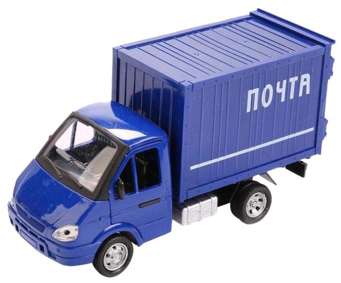 Купить Фургон Play Smart ГАЗель почта (Р40517) 20 см синий по низкой цене с доставкой из Яндекс.Маркета (бывший Беру)