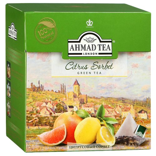 Чай зеленый Ahmad tea Citrus sorbet в пирамидках, 36 г 20 шт. denker mellow citrus черный чай в пирамидках 25 шт