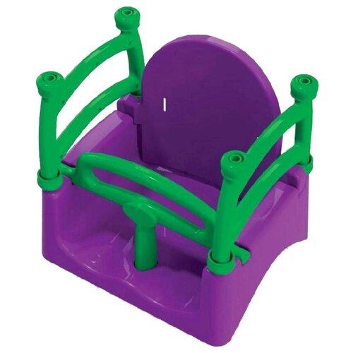 Doloni Качели подвесные фиолетовый/салатовый