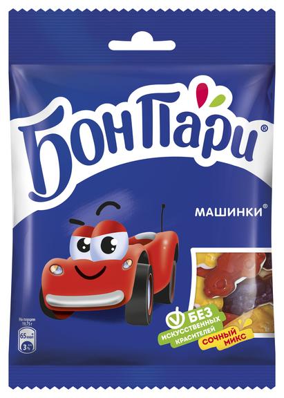 Жевательный мармелад Бон Пари машинки, 75 г.