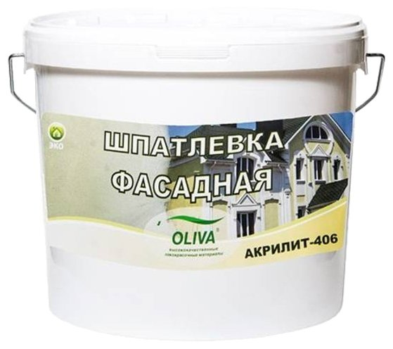 Шпатлевка Олива Акрилит 406 фасадная