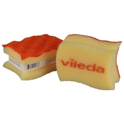 Губка Vileda Пур Колорс неупакованная оранжевыйТряпки, щетки, губки<br>