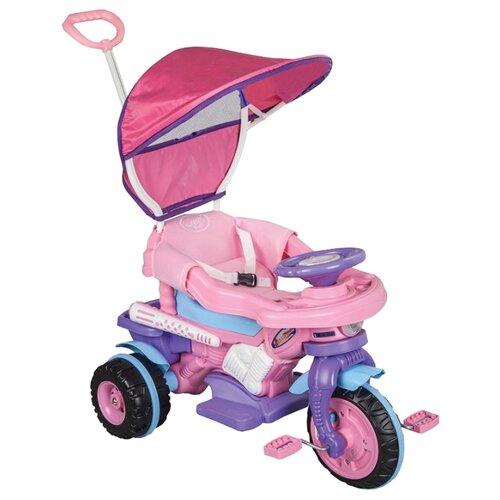 Купить Трехколесный велосипед pilsan 07/134 Maxi Bike Lux розово-фиолетово-голубой, Трехколесные велосипеды