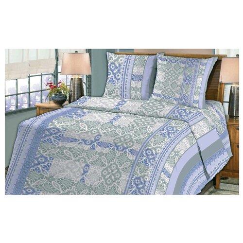 Постельное белье 1.5-спальное Fiorelly Кружево голубой 067-4 бязь