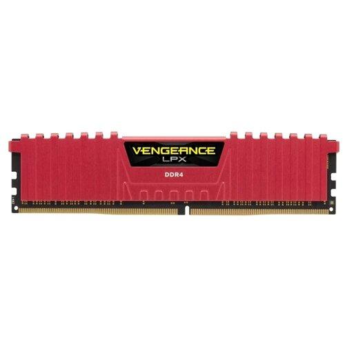 Оперативная память Corsair Vengeance LPX DDR4 2400 (PC 19200) DIMM 288 pin, 8 ГБ 1 шт. 1.2 В, CL 14, CMK8GX4M1A2400C14R