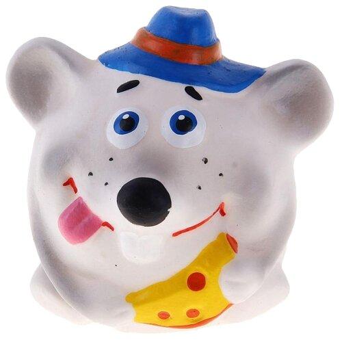 Купить Игрушка для ванной Кудесники Крысенок-мяч (СИ-221) серый, Игрушки для ванной