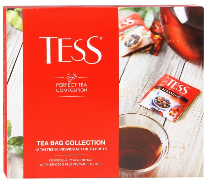 Чай Tess Tea bag collection ассорти в пакетиках подарочный набор, 60 шт.