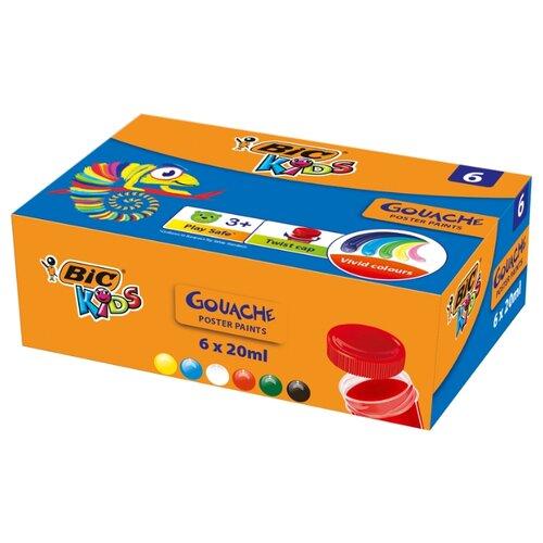 Купить BIC Гуашь Kids 6 цветов х 20 мл (947714), Краски