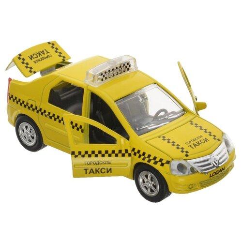 Купить Легковой автомобиль ТЕХНОПАРК Renault Logan Такси (SB-13-21-3) 12.5 см желтый, Машинки и техника