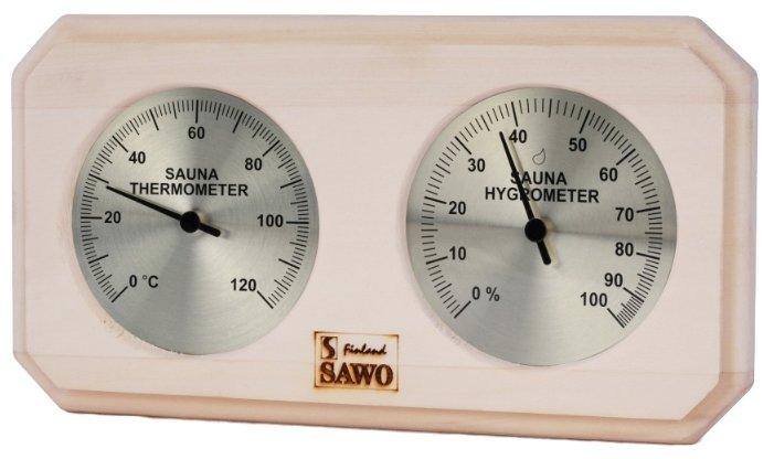 """Термометр с гигрометром """"Банная станция. В парной"""", для бани и сауны, 25x11x2,5 см"""