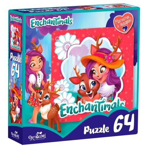 Пазл Origami Enchantimals Данэсса Оленни и Спринт (03558), 64 дет.