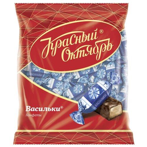 Конфеты Красный Октябрь Васильки, пакет 250 г конфеты красный октябрь маска пакет 500 г