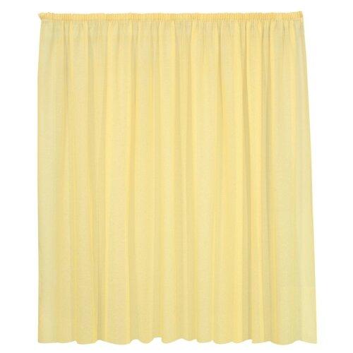 Тюль Kauffort Basicos-M на тесьме 175 см желтый тюль kauffort miranda на тесьме 175 см молочный