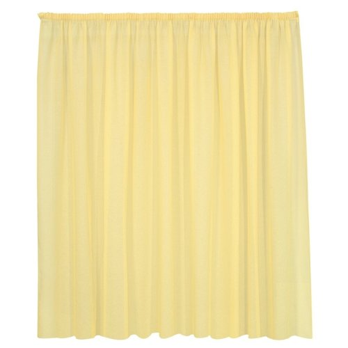 Тюль Kauffort Basicos-M на тесьме 175 см желтый