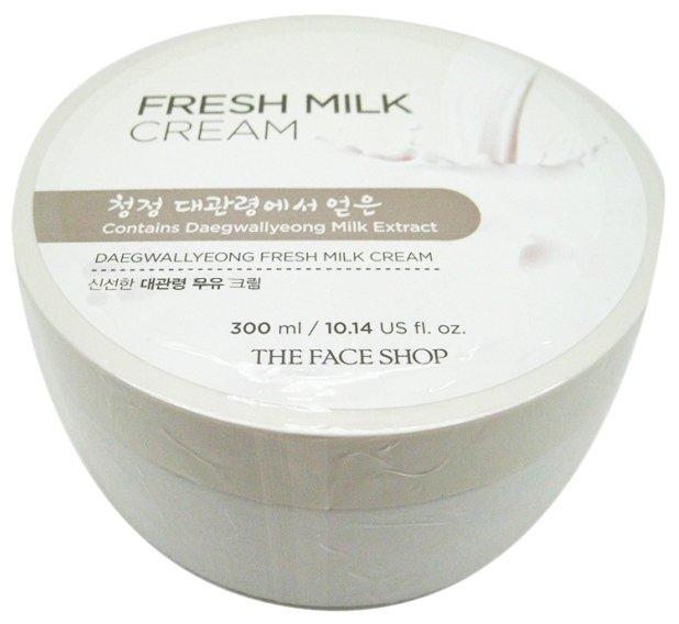 Крем для тела TheFaceShop Daegwallyeong Milk Fresh Cream Крем для лица и тела с экстрактом молока