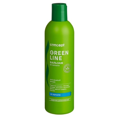 Фото - Concept бальзам Green Line от перхоти для волос и кожи головы, 300 мл concept восстанавливающее масло двойное действие 10 10 мл concept green line