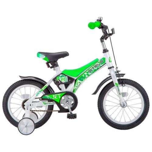 Фото - Детский велосипед STELS Jet 14 Z010 (2018) белый/салатовый 8.5 (требует финальной сборки) городской велосипед stels navigator 300 lady 28 z010 2018 фиолетовый 20 требует финальной сборки