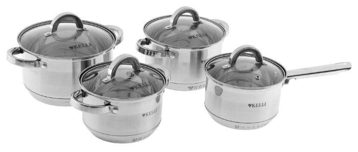 Набор посуды для готовки Kelli KL-4245, Серебристый