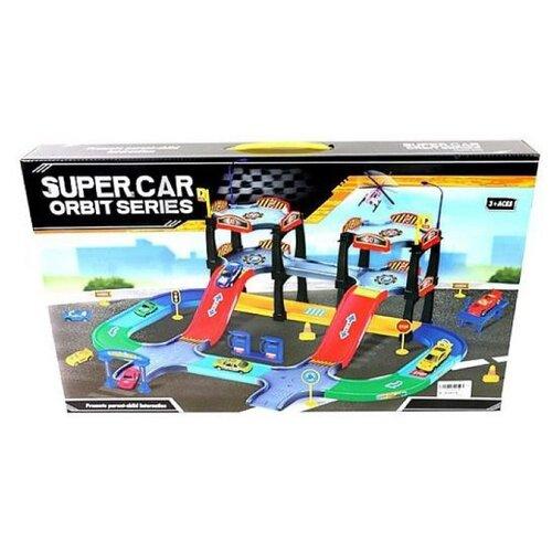 Купить Наша игрушка Игровой набор Парковка P2019 голубой/красный/зеленый/синий/желтый/фиолетовый, Детские парковки и гаражи