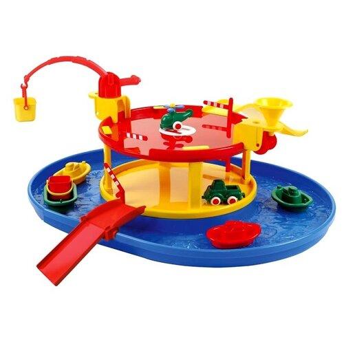 Купить Viking Toys Гараж с гаванью 5000 синий/желтый/красный, Детские парковки и гаражи