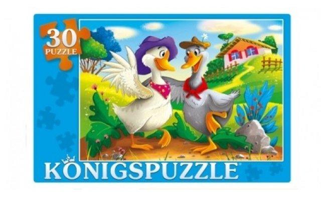 Пазл Рыжий кот Konigspuzzle Два веселых гуся (ПК30-9992), 30 дет.