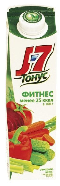 Напиток сокосодержащий J7 Тонус Фитнес Смесь овощей, 1.45 л