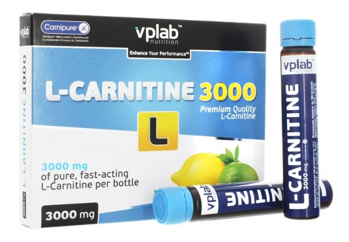Vplab L-Carnitine 3000 мг (7 ампул х 25 мл)