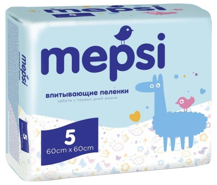 Одноразовые пеленки Mepsi 60х60 5 шт.