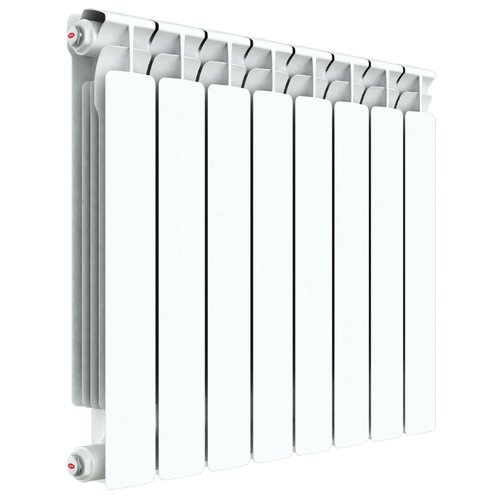 Радиатор секционный биметаллический Rifar Alp 500 x12 теплоотдача 2292 Вт, подключение универсальное боковое RAL 9016