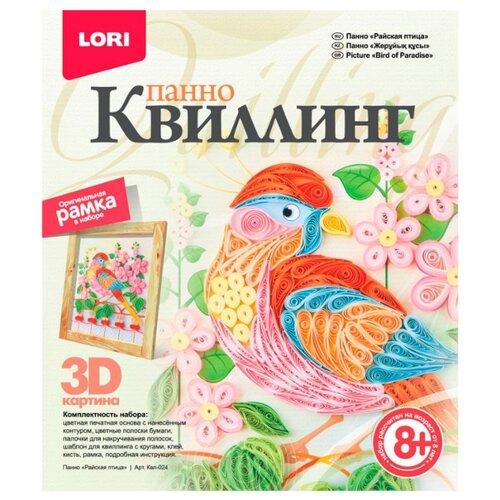LORI Набор для квиллинга Райская птица КВЛ-024 розовый/оранжевый/голубой lori набор для квиллинга совушка квл 023 голубой розовый