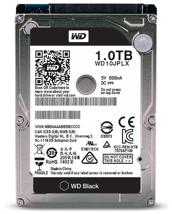 Жесткий диск 1 TB Western Digital WD Black WD10JPLX 2.5