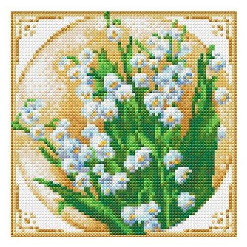 Купить Алмазная живопись Набор алмазной вышивки Первые ландыши (АЖ-1443) 20х20 см, Алмазная вышивка