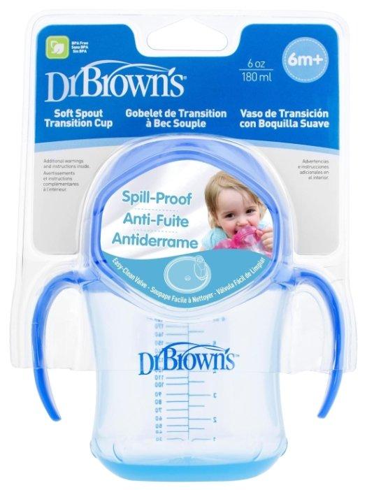 Поильник-непроливайка Dr. Brown's Soft-Spout Transition Cup, 180 мл