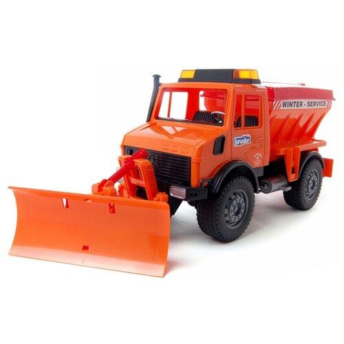 Купить Снегоуборщик Bruder Mercedec-Benz (02-572) 1:16 47 см оранжевый, Машинки и техника