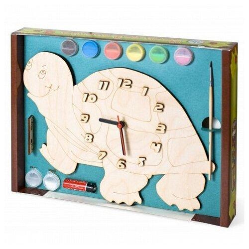 Нескучные игры Набор для росписи Часы с циферблатом Черепаха (ДНИ110) нескучные игры набор для росписи часы с циферблатом домик дни113