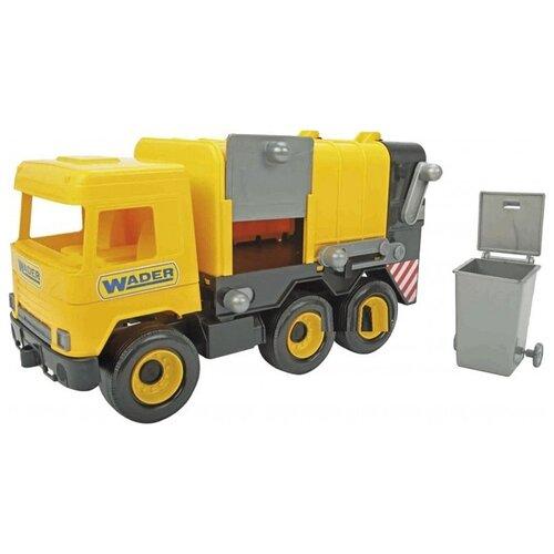 Мусоровоз Wader Middle Truck (39492) желтый мусоровоз wader гриптрак 37459 28 5 см