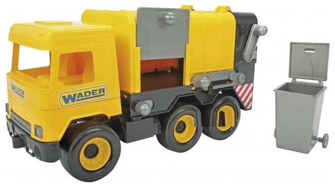 Мусоровоз Wader Middle Truck (39492) желтый