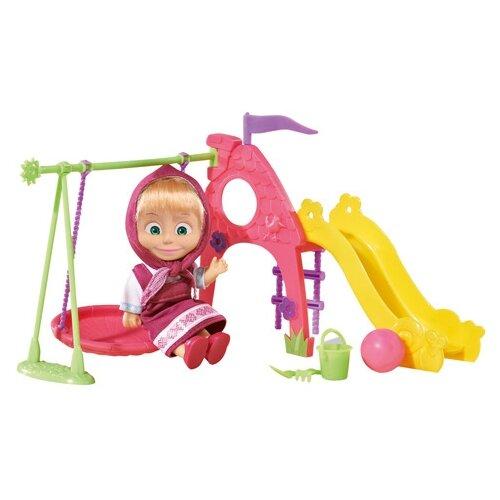 Кукла Simba Маша и медведь Маша на детской площадке 12 см 9301816