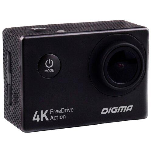Видеорегистратор DIGMA FreeDrive Action 4K черный видеорегистратор digma freedrive action 4k wifi [fdac4w]