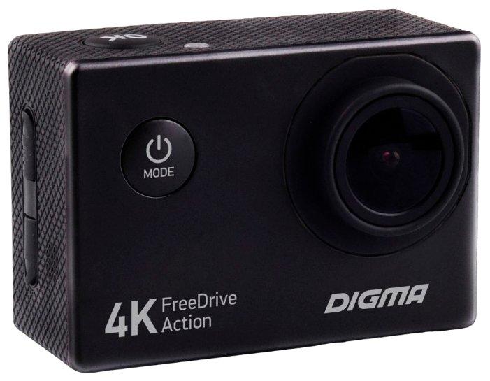 Видеорегистратор Digma FreeDrive Action 4K черный
