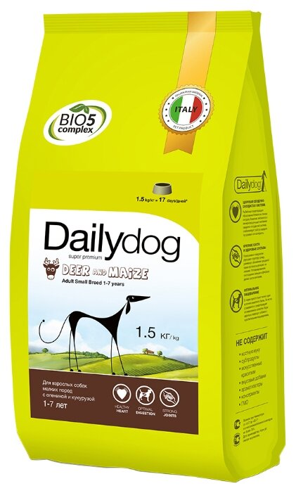Корм для собак Dailydog Adult Small Breed Deer and Maize