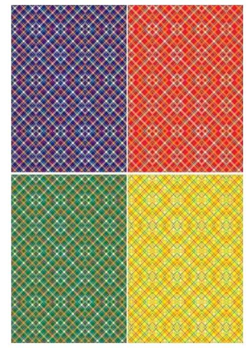Цветной картон с тиснением Калейдоскоп Апплика, A4, 4 л.