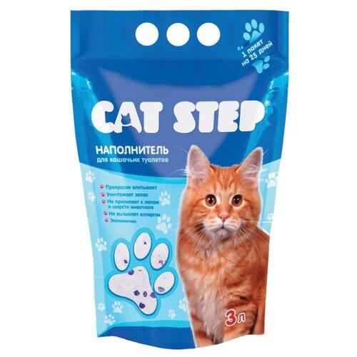 Впитывающий наполнитель Cat Step Силикагелевый 3 л впитывающий наполнитель glamour cats силикагелевый антибактериальный 3 8 л 1 7 кг